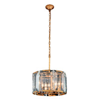 Elegant Lighting 1211D17GI Monaco 4 Light 17 inch Golden Iron Pendant Ceiling Light Urban Classic