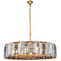 Elegant Lighting 1211D43GI Monaco 10 Light 43 inch Golden Iron Pendant Ceiling Light, Urban Classic