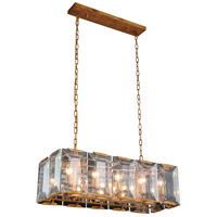 Elegant Lighting 1212D34GI Monaco 10 Light 13 inch Golden Iron Pendant Ceiling Light Urban Classic