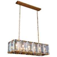 Monaco 12 Light 13 inch Golden Iron Pendant Ceiling Light, Urban Classic