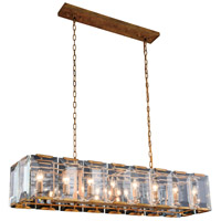 Monaco 16 Light 13 inch Golden Iron Pendant Ceiling Light, Urban Classic