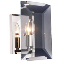 Monaco 1 Light 6 inch Polished Nickel Wall Sconce Wall Light, Urban Classic
