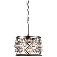 Urban Classic by Elegant Lighting Madison 3 Light Pendant in Polished Nickel with Royal Cut Clear Crystal 1213D12PN/RC