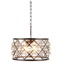 Elegant Lighting 1213D16PN/RC Madison 4 Light 16 inch Polished Nickel Pendant Ceiling Light in Clear Smooth Royal Cut Urban Classic