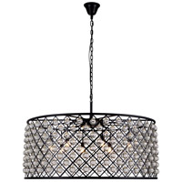 Madison 10 Light 44 inch Mocha Brown Pendant Ceiling Light in Clear, Smooth Royal Cut