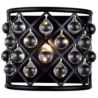 Urban Classic by Elegant Lighting Madison 1 Light Wall Sconce in Mocha Brown with Royal Cut Clear Crystal 1213W11MB/RC
