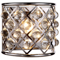 Urban Classic by Elegant Lighting Madison 1 Light Wall Sconce in Polished Nickel with Royal Cut Clear Crystal 1213W11PN/RC