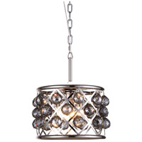 Urban Classic by Elegant Lighting Madison 3 Light Pendant in Polished Nickel with Royal Cut Silver Shade Crystal 1214D12PN-SS/RC