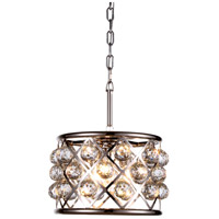 Urban Classic by Elegant Lighting Madison 3 Light Pendant in Polished Nickel with Royal Cut Clear Crystal 1214D12PN/RC