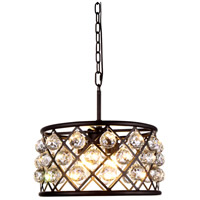 Madison 4 Light 16 inch Mocha Brown Pendant Ceiling Light in Clear, Faceted Royal Cut, Urban Classic