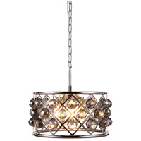 Elegant Lighting 1214D16PN-SS/RC Madison 4 Light 16 inch Polished Nickel Pendant Ceiling Light in Silver Shade Faceted Royal Cut Urban Classic