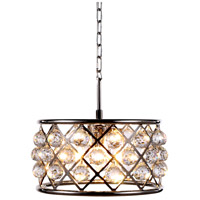 Elegant Lighting 1214D16PN/RC Madison 4 Light 16 inch Polished Nickel Pendant Ceiling Light in Clear Faceted Royal Cut Urban Classic