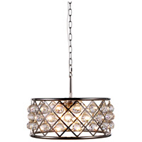 Elegant Lighting 1214D20PN/RC Madison 5 Light 20 inch Polished Nickel Pendant Ceiling Light in Clear Faceted Royal Cut Urban Classic