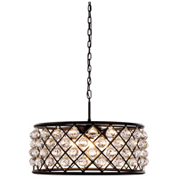 Urban Classic by Elegant Lighting Madison 6 Light Pendant in Mocha Brown with Royal Cut Clear Crystal 1214D25MB/RC