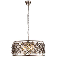 Urban Classic by Elegant Lighting Madison 6 Light Pendant in Polished Nickel with Royal Cut Silver Shade Crystal 1214D25PN-SS/RC
