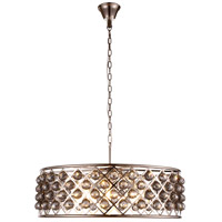 Urban Classic by Elegant Lighting Madison 8 Light Pendant in Polished Nickel with Royal Cut Silver Shade Crystal 1214D32PN-SS/RC