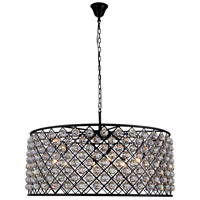 Madison 10 Light 44 inch Mocha Brown Pendant Ceiling Light in Clear, Faceted Royal Cut