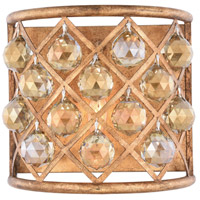 Madison 1 Light 12 inch Golden Iron Wall Sconce Wall Light in Golden Teak, Faceted Royal Cut