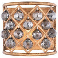 Madison 1 Light 12 inch Golden Iron Wall Sconce Wall Light in Silver Shade, Faceted Royal Cut, Urban Classic