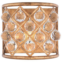 Madison 1 Light 12 inch Golden Iron Wall Sconce Wall Light in Clear, Faceted Royal Cut