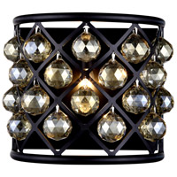 Urban Classic by Elegant Lighting Madison 1 Light Wall Sconce in Mocha Brown with Royal Cut Golden Teak Crystal 1214W11MB-GT/RC