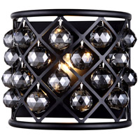 Urban Classic by Elegant Lighting Madison 1 Light Wall Sconce in Mocha Brown with Royal Cut Silver Shade Crystal 1214W11MB-SS/RC