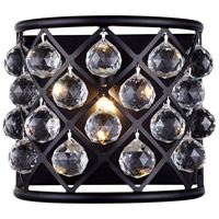 Urban Classic by Elegant Lighting Madison 1 Light Wall Sconce in Mocha Brown with Royal Cut Clear Crystal 1214W11MB/RC