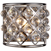 Urban Classic by Elegant Lighting Madison 1 Light Wall Sconce in Polished Nickel with Royal Cut Clear Crystal 1214W11PN/RC