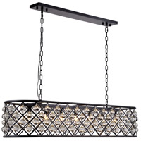 Urban Classic by Elegant Lighting Madison 7 Light Island Pendant in Mocha Brown with Royal Cut Clear Crystal 1215G50MB/RC