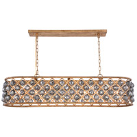 Madison 7 Light 13 inch Golden Iron Pendant Ceiling Light in Silver Shade, Faceted Royal Cut, Urban Classic