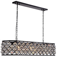 Madison 7 Light 50 inch Mocha Brown Island Pendant Ceiling Light in Clear, Faceted Royal Cut