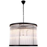 Urban Classic by Elegant Lighting Royale 9 Light Pendant in Mocha Brown with Glass Clear Crystal 1217D35MB
