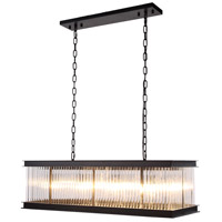 Urban Classic by Elegant Lighting Royale 8 Light Island Pendant in Mocha Brown with Glass Clear Crystal 1218G40MB