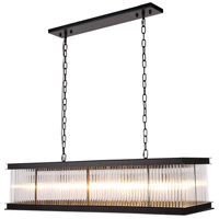 Urban Classic by Elegant Lighting Royale 10 Light Island Pendant in Mocha Brown with Glass Clear Crystal 1218G50MB