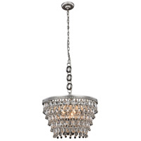 Elegant Lighting 1219D19AS/RC Nordic 5 Light 19 inch Antique Silver Pendant Ceiling Light Urban Classic