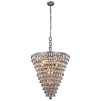 Elegant Lighting 1219D24AS/RC Nordic 7 Light 24 inch Antique Silver Pendant Ceiling Light Urban Classic