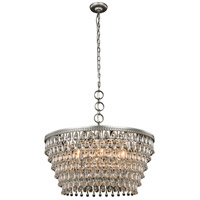 Elegant Lighting 1219D28AS/RC Nordic 6 Light 28 inch Antique Silver Pendant Ceiling Light Urban Classic