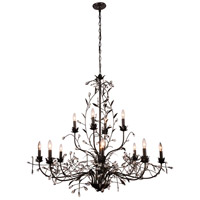 Elegant Lighting 1222G49GDB/RC Arbor 12 Light 49 inch Golden Dark Bronze Pendant Ceiling Light Urban Classic
