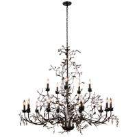 Elegant Lighting 1222G55GDB/RC Arbor 15 Light 55 inch Golden Dark Bronze Pendant Ceiling Light Urban Classic
