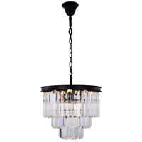 Sydney 9 Light 20 inch Matte Black Chandelier Ceiling Light, Urban Classic