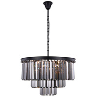 Sydney 9 Light 26 inch Matte Black Chandelier Ceiling Light, Urban Classic