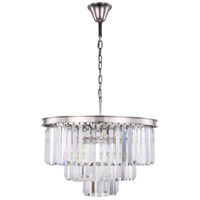 Elegant Lighting 1231D26PN/RC Sydney 9 Light 26 inch Polished Nickel Chandelier Ceiling Light, Urban Classic alternative photo thumbnail
