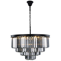 Sydney 17 Light 32 inch Matte Black Chandelier Ceiling Light, Urban Classic