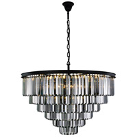 Sydney 33 Light 44 inch Matte Black Chandelier Ceiling Light, Urban Classic