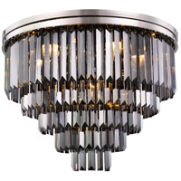 Sydney 17 Light 32 inch Polished nickel Flush Mount Ceiling Light, Urban Classic
