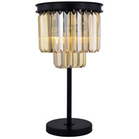 Elegant Lighting 1231TL14MB-GT/RC Sydney 26 inch 60 watt Matte Black Table Lamp Portable Light Urban Classic
