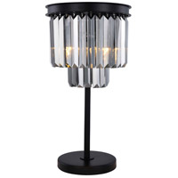 Elegant Lighting 1231TL14MB-SS/RC Sydney 26 inch 60 watt Matte Black Table Lamp Portable Light Urban Classic