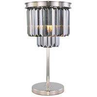 Elegant Lighting 1231TL14PN-SS/RC Sydney 26 inch 60 watt Polished Nickel Table Lamp Portable Light Urban Classic