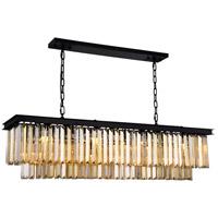 Sydney 12 Light 14 inch Matte Black Chandelier Ceiling Light, Urban Classic