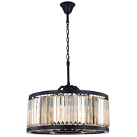 Elegant Lighting 1233D28MB-GT/RC Chelsea 8 Light 28 inch Matte Black Chandelier Ceiling Light Urban Classic